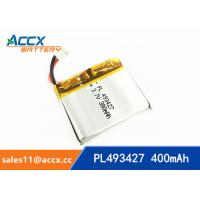Best 493427 pl493427 3.7v li-ion polymer battery with full capacity 400mAh for dada recorder, led light, digital products wholesale