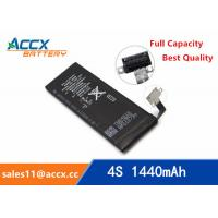 Best ACCX brand new high quality li-polymer internal mobile phone battery for IPhone 4S with high capacity of 1450mAh 3.7V wholesale