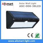 Best 38LED 550 Lumens 7W Motion Sensor Solar Wall Light PIR Sensor Light Triangle Solar Lights Chinese Manufaturer Supplier wholesale