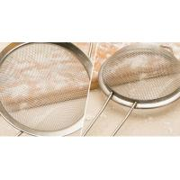 Best Stainless Steel Taper Mesh Cooking Oil Strainer / Sieve For Kitchen , 0.02mm-2mm Wire Dia wholesale