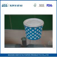 Cheap 9oz Logo Printed Double PE Disposable Paper Ice Cream Cups / Yogurt Cups with Lids wholesale