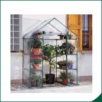 Best Agricultural Plastic Hot Houses Foldable Greenhouse With Film Or Plastic Sheet 6x8x6.6 Plant Growth Powder coated wholesale