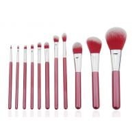 China Smile Red Professional Makeup Brush Set Wood Handle PU Bag 136mm - 169mm on sale