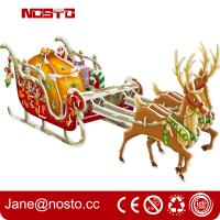 Best Christmas decoration reindeer sleigh with night edition giftware 3d puzzle wholesale