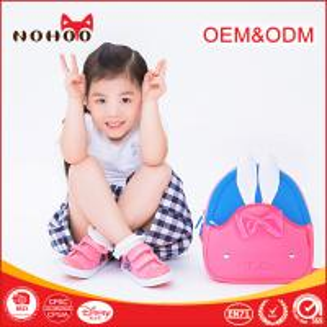 Best Kawaii Pink Toddler Book Bag , Rabbit Neoprene Mini Kids School Waterproof Book Bag For Baby Girls wholesale