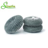 Best High Zinc Kitchen Galvanized Scourer Wire Mesh Ball Strong Cleaning For Pan / Grill wholesale