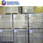Best ZC-H Block Corundum Brick For Refine Crown / Feeder Roof Cover , White Color wholesale