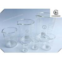 Quality Glass Beaker  / Lab Glass Beakers 60mm Height 50mL , Lab Glassware Kit wholesale