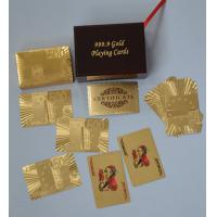 Best Luxury 24k gold plated playing cards with standard 52 cards + 2 jokers wholesale