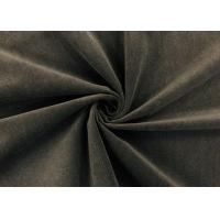China Soft Brushed Knit Fabric / DWR Fabric for Home Textile Dark Brown 240GSM on sale