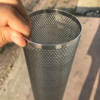 Best Perforated Mesh Screen Filter Tube Cartridge / Cylindrical Metal Mesh Filter Screen wholesale