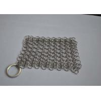 Best Polished 316L Ring Wire Stainless Steel Chainmail Scrubber For Food wholesale