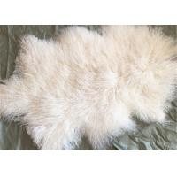 Best Mongolian lambswool blanket Long curly hair Tibetan Lamb fur skin Pelt rug plate wholesale
