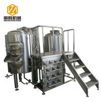 Best 400L Semi Automatic Small Brewery Equipment Two Vessels With Steam Condenser wholesale