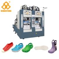 Best Rain Boots Plastic Chappal Making Machine , Vertical Shoe Sole Mould Making Machine wholesale