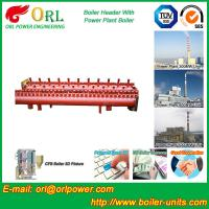 Best Low Loss Boiler Header Manifolds / Boiler Steam Header Non Pollution wholesale