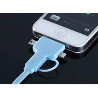 Best Blue HTC Micro USB Cable For Cell Phone Charger Adapter , Mini USB Data Cable wholesale