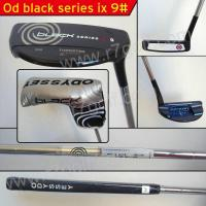 China golf putter/OD Black serice ix 9#  golf putter on sale