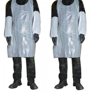 Best White Plastic Disposable Aprons , Unisex Protective Clothing Aprons wholesale
