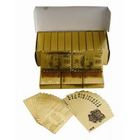 Best 24K Luxury $100 Dollar costom Gold Playing Cards Poker Gift Box Set Certificate wholesale