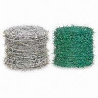 Buy cheap Barbed Iron Wire, Made of Low Carbon Steel and PVC, Comes in Various Colors from wholesalers