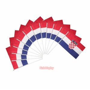 Best Silkscreen 100 Polyester Hand Waving Flag For Sports wholesale