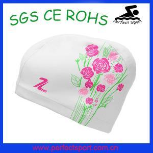 Cheap Women beautiful funny lycra swimming cap for sale