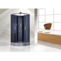 Best Tempered Glass Quadrant Shower Cubicles PVC In Matt Grey Functional Panel wholesale