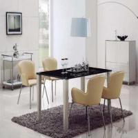 Best Modern Dining Set with Glass Table and Leather Chair wholesale