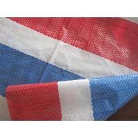 Cheap 90gs-170gsm blue/ white/red  stripe airfreight pe tarpaulin,packing material for sale