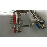Best Intelligent Temperture Control Floor Heating Manifold With Two Auto Drain Valve 5 Ways wholesale