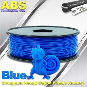 Best 3D Printer Material Strength Blue Filament  , 1.75mm / 3.0mm ABS Filament Consumables wholesale