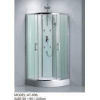 China Shiny chrome complete enclosed shower cubicles Aluminium Rails / Profiles tub shower enclosures on sale