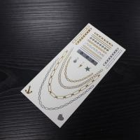 Body Jewelry Flash Waterproof Metallic Temporary Tattoo Sticker