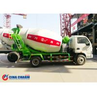 China 1230 / 1830 Mm Foton 3m3 Concrete Mixer Truck Front Load For Transporting on sale