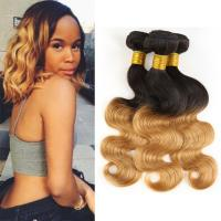 Best Two Tone Ombre Human Hair Extensions Brazilian Loose Wave Hair Weave 1B / 30 wholesale
