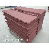 Best Building Material Stone Coated Roofing Sheet , Stone Chips Coated Metal Roof Tile Shingles wholesale