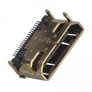 Best Computer Pin Connectors Mini HDMI 19P Right Angle & SMT LCP Black UL94V-0 wholesale