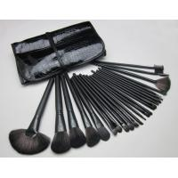 Cheap Black Wood Cosmetic Brush Sets 24PCS Synthetic Goat for women wholesale