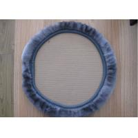 Thick Pile 14 Inch Steering Wheel Cover , Girly Steering Wheel Covers For Keeping Warm
