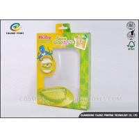 China Green / Yellow Foldable Gift Boxes Eco Friendly PVC Window For Children Bowl on sale