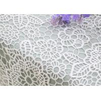 Best Wedding Dresses Water Soluble Lace Fabric With Chemical Polyester Floral Lace wholesale