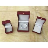 Best Red Leather Jewellery Necklace Gift Box / Engagement Display Case wholesale