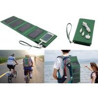 Cheap 5W Foldable Solar Charger With Built-in 7000mAh Li-polymer Power Bank 1.5W Torch wholesale