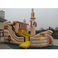 Best Pirate Ship Shaped Inflatable Outdoor Toys Quadruple Stitching OEM Accepted wholesale