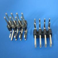 Best 2x40 Pin 2.54mm Double row Straight Male Header Right-angle - Black wholesale