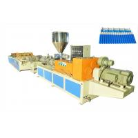 China PP/PVC/PC Plastic Roofing Tiles Extrusion Line , Wave Roof Tile Making Machine on sale