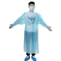 Best Waterproof Plastic Disposable CPE Protective Isolation Gown Apron wholesale