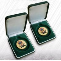 Best Green Flocking Jewelry Velvet Box Coin Boxes Flocked Coins Packing For Ceremony wholesale