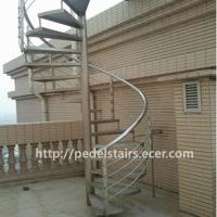 Best Villa outdoor carbon steel stainless steel 304 rotating curved glass staircase handrail design wholesale
